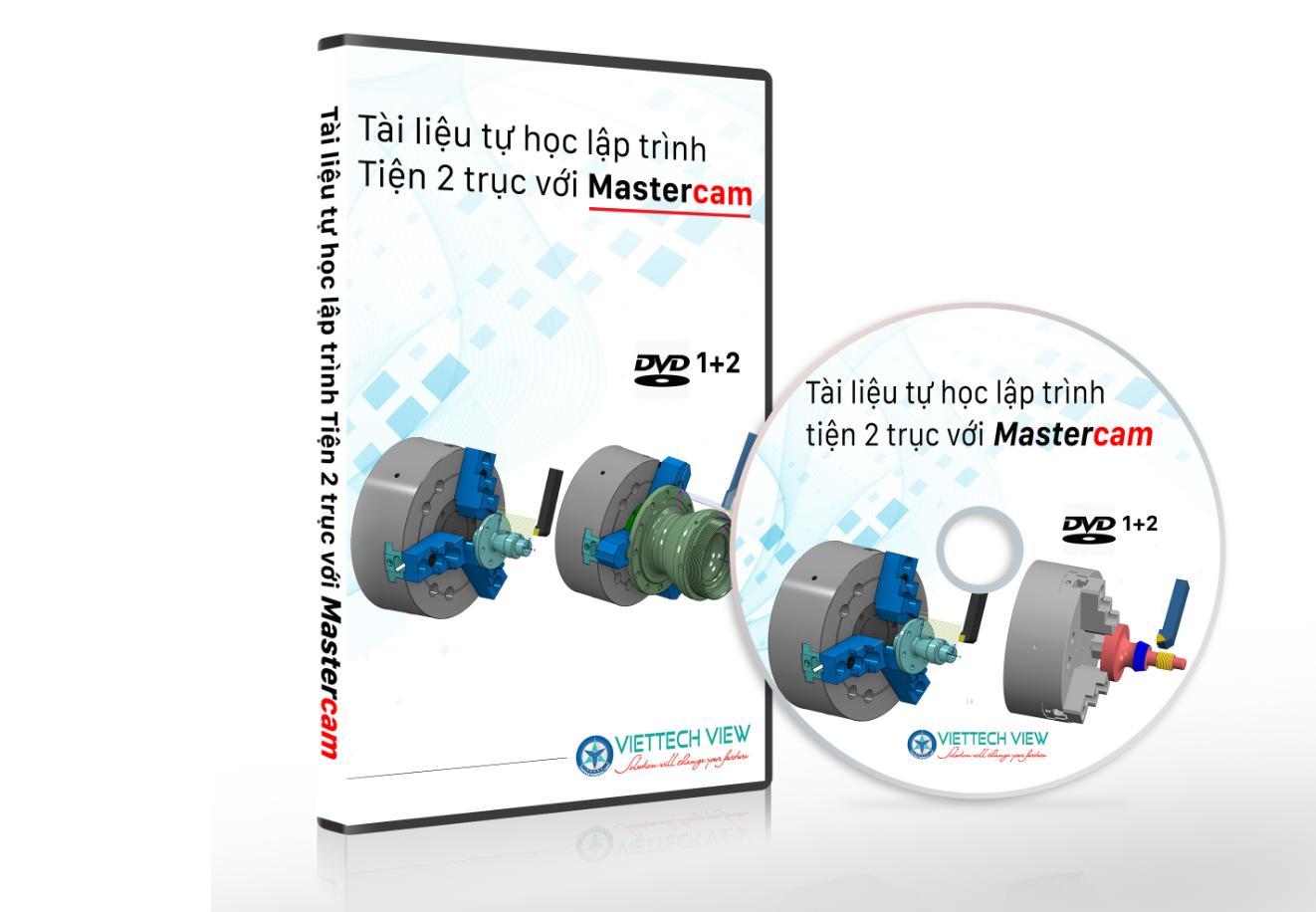 DVD -1 tự học lập trình tiện CNC 2 trục với Mastercam