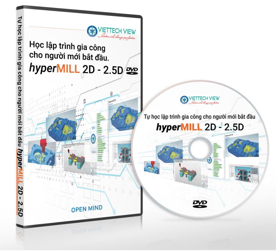 DVD Tự học lập trình gia công chi tiết máy với Hypermill 2D